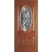 "DRG3PCAS3V2P - Amherst-Plastpro - CASTILE-PATINA WOODGRAIN 3/4 OVAL PREMIUM DOOR (1-3/4"")"