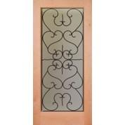"Knotty Alder 1 Lite Door (1-3/4"") - KA1LESF2"