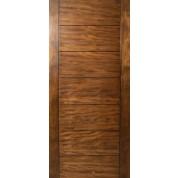 Sulcus   Multi Horizontal Plank Wood Door W/ Vertical Stiles .