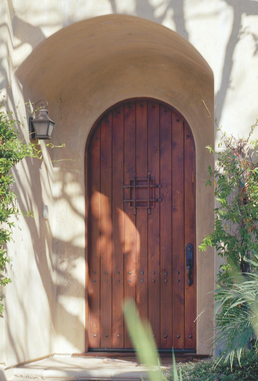 Arched Mahogany Doors