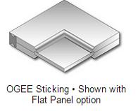 Ogee sticking - Flat Panel
