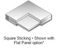 Square Sticking - Flat Panel