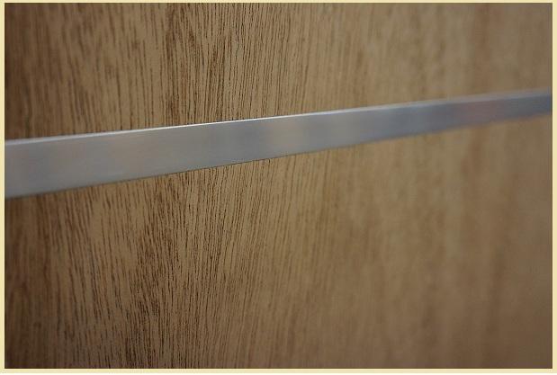 Walnut Standard Duty Flush Doors With 3 Aluminum Strips