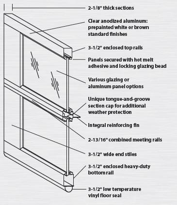 Commercial aluminum glass garage doors 12x12 ebay for 12x12 overhead door