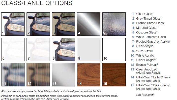 Commercial Aluminum Glass Garage Doors 12x12 Ebay
